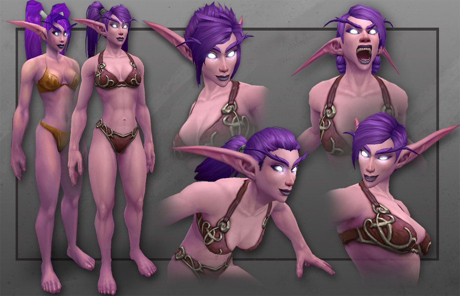 Female blood elf night elf worgen and  naked clips