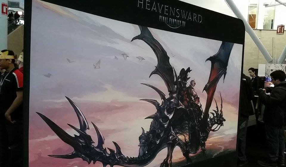Part of Heavensward display at SquareEnix booth