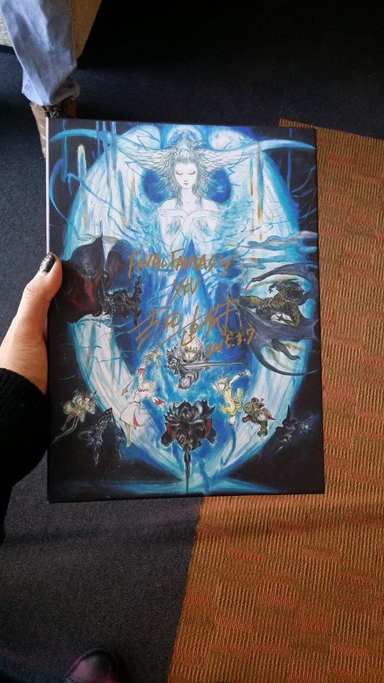 Malice's signed Collector's Edition by the FFXIV Producers